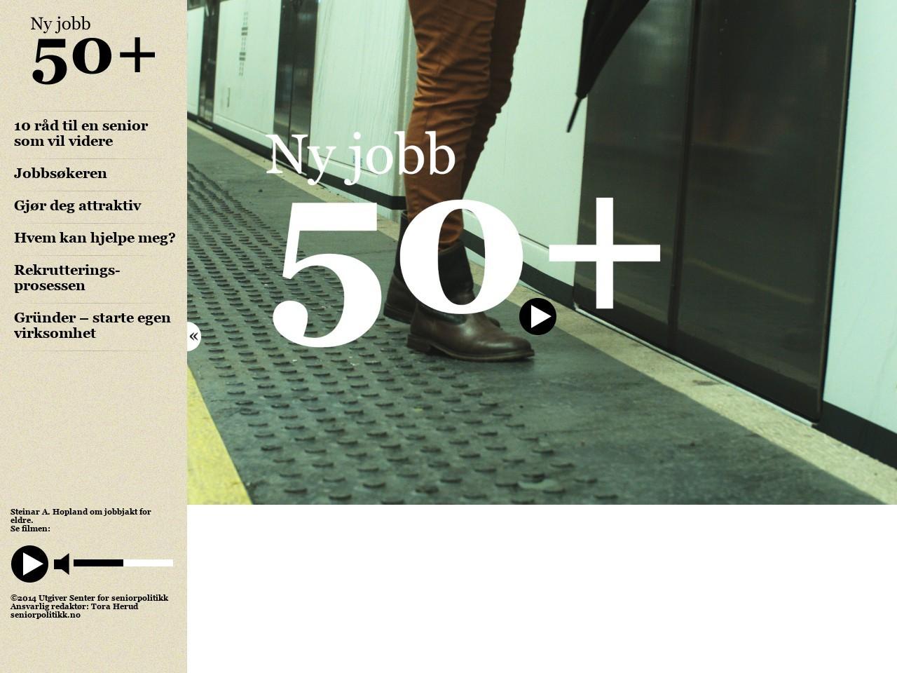 Skjermdump av ny jobb 50+